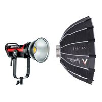 "Für weitere Info hier klicken. Artikel: Aputure Light Storm COB Lights LS C300D MKII (V-mount) Kit + Aputure Light Dome Mini II (21.5"", 545mm)"