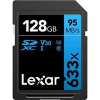 Für weitere Info hier klicken. Artikel: Lexar Professional, SDHC 633x, Class 10, UHS-I, U1, V30, 95MB/s 128 GB