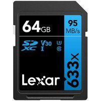 Für weitere Info hier klicken. Artikel: Lexar Professional, SDXC 633x, Class 10, UHS-I, U1, V30, 95MB/s 64 GB